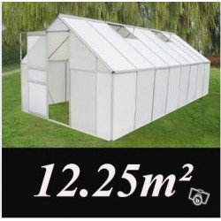 grande serre xxl 12,25m2 polycarbonate - neuf